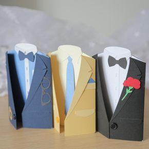geburtstagskarten selbst gestalten für männer in form von einem stilvollen kostüm