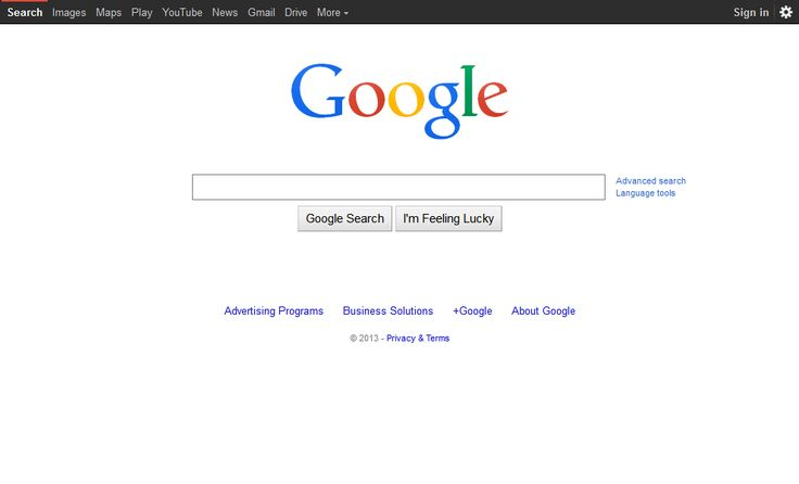 Google website in 2014