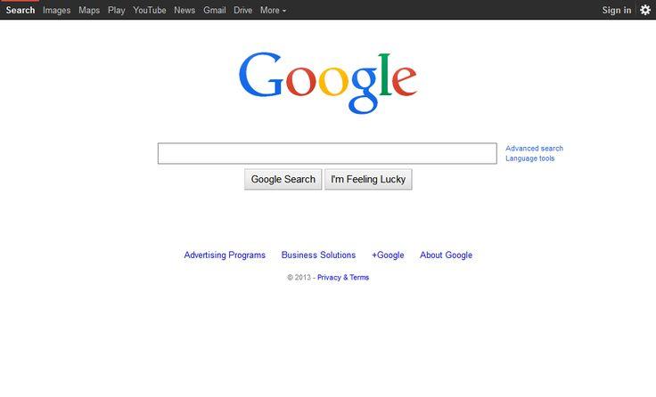 Google website in 2014