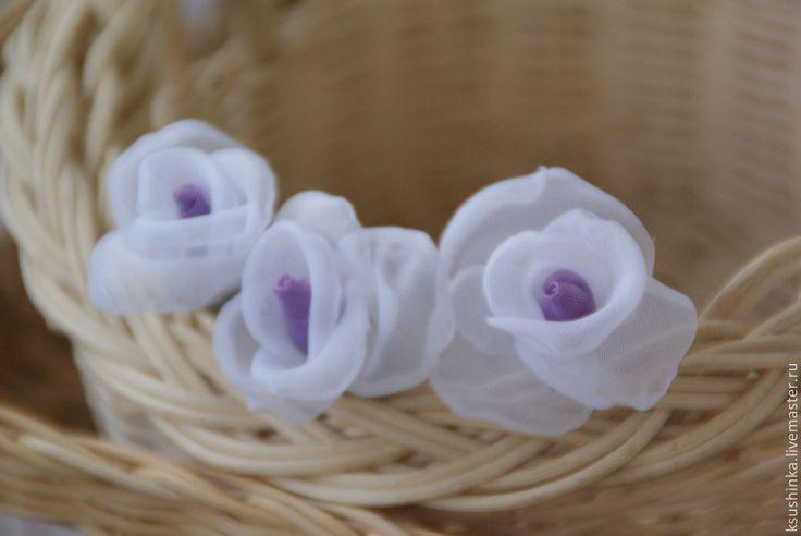 Венок на голову из цветов. Цветы из ткани - венок,венок из цветов,венок на голову