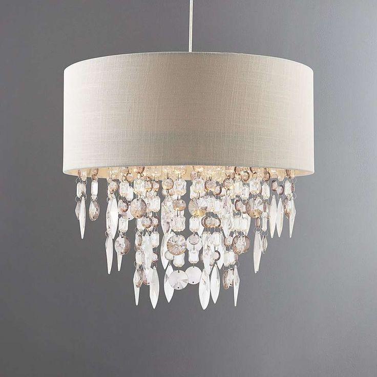 Mila Ivory Light Shade | Dunelm | White bedroom | Crystal ...