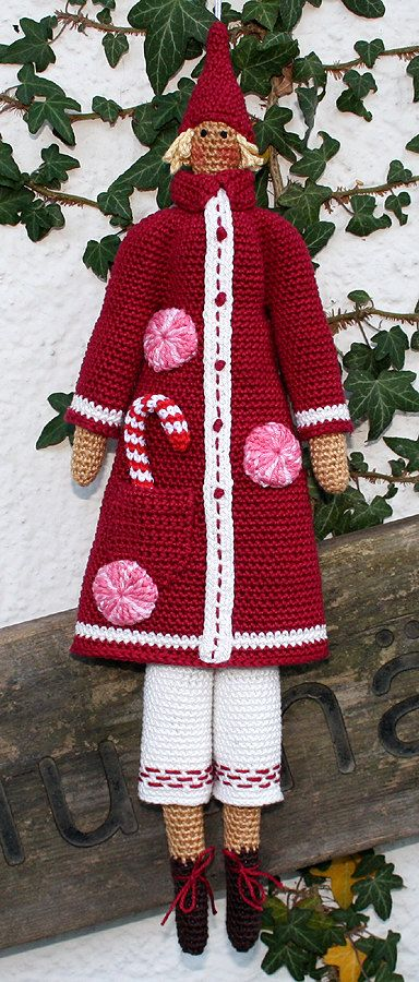 This crochet pattern will instruct you on how to crochet a SANTA.  The PDF pattern includes detailed instructions and helpful notes and tips to complete your santa. You will need to know basic crochet stitches, i.e., single crochet, double crochet, double treble crochet and crocheting in the round.  Size depending on the yarn and hook size you are using, mine is 16.5 inches tall. I used sport weight yarn (Catania) and the hook size 3.0 mm and 2.5 mm.  Design: Tone Finnanger.  The pattern is…