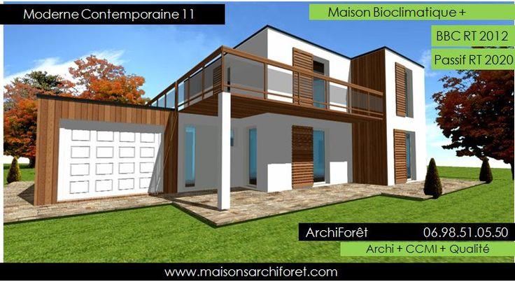 Maison toit plat et toiture terrasse bac acier ou siplast - Maison rustique bois architecte stillwater ...