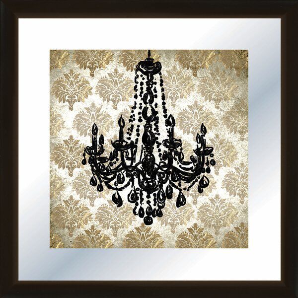Chandelier Framed Graphic Art In 2020 Wall Boxes Chic Frames Chandelier Hook