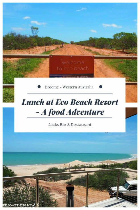 Broome WA: Jacks Bar and Restaurant can be found at Eco Beach Resort, an easy day trip from Broome. It boasts gorgeous views of the creamy white sand and aqua water.