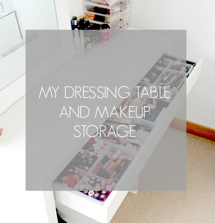 Updated makeup storage ikea malm makeup storage and malm for Table a couture ikea