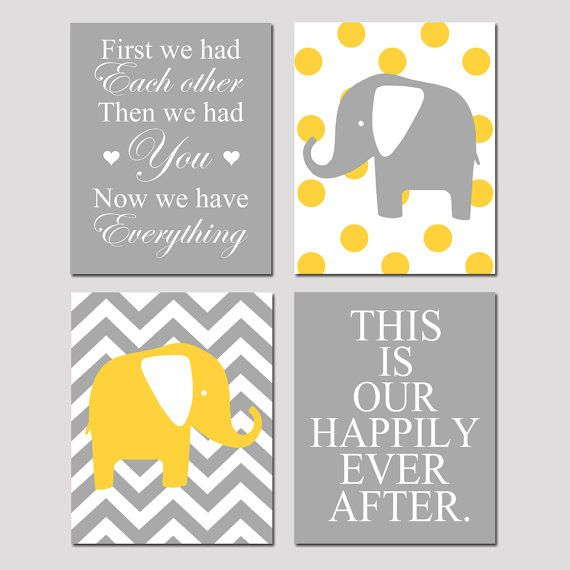 Modern Nursery Quad  Set of Four 8x10 Prints  Now We by Tessyla, $65.00: Polka Dots, Happily Ever After, Modern Nursery, 8X10 Prints, Modern Nurseries, Baby