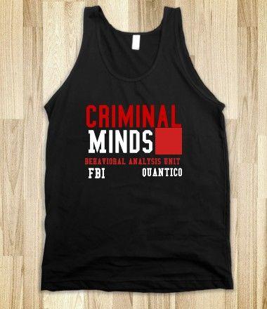J-Criminal Minds-Unisex Black Tank from Skreened