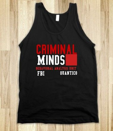 J-Criminal Minds-Unisex Black Tank from Skreened