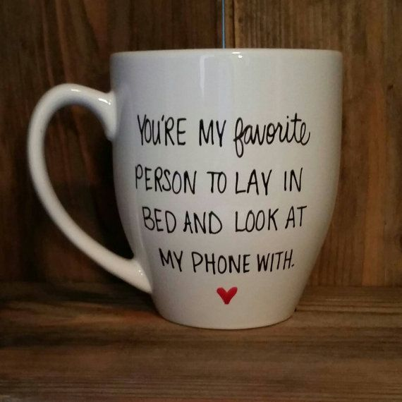Funny mug,  love mug, gift for fiancee, valentine's day gift, love mug, wife gift, husband gift, you're my favorite person to lay in bed
