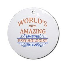 Psychologist Round Ornament for