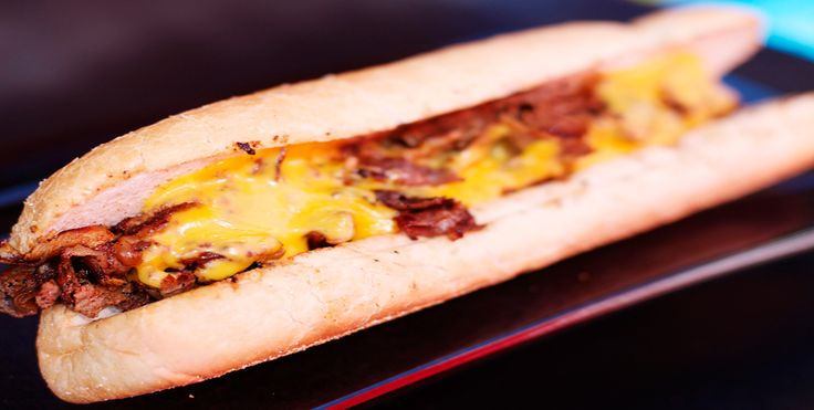 Vinnie's Wiz Wit.  Cheesesteak wit Onions and Cheez Whiz served on an Amoroso Roll.