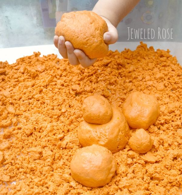 Pumpkin Moon Sand Recipe - Pinned by @PediaStaff – Please Visit ht.ly/63sNtfor all our pediatric therapy pins