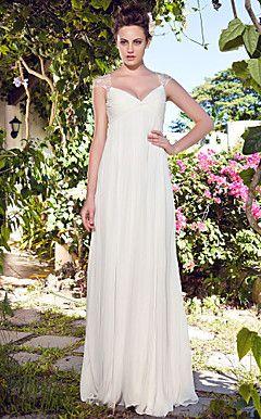 ABEA - Vestido de Noiva em Chifon – BRL R$ 430,23