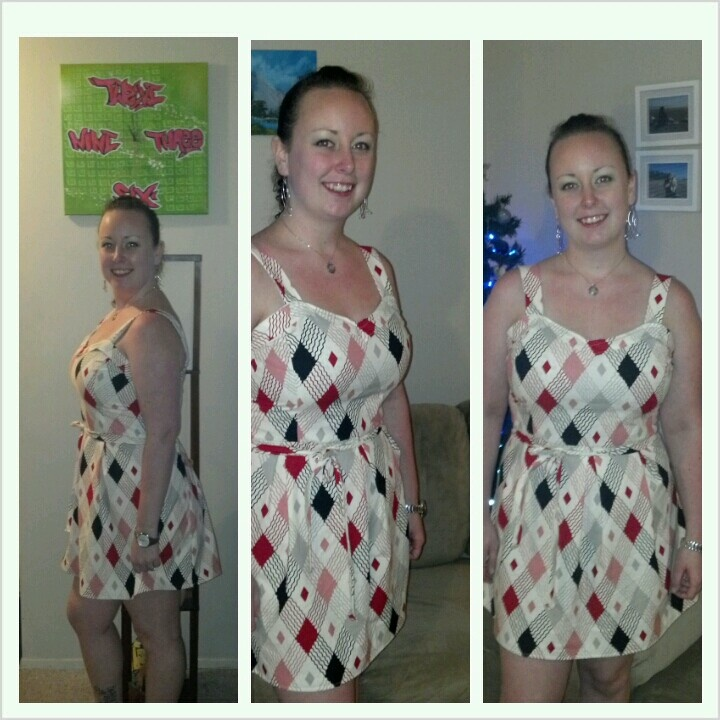 First dress I've ever made! Love the pattern on the fabric #twelfthletterapparel