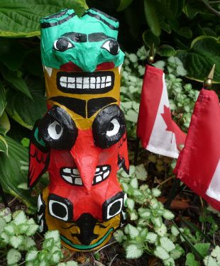 Totem Pole Paper Mache Project for Kids