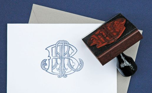 custom monogram stamp - www.allisonrbanksdesigns.com