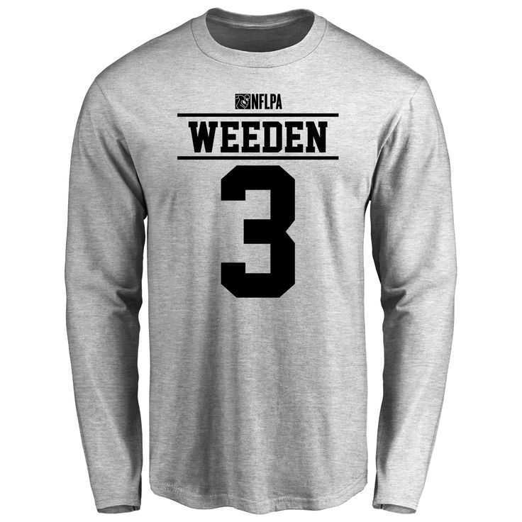 Brandon Weeden Player Issued Long Sleeve T-Shirt - Ash - $25.95