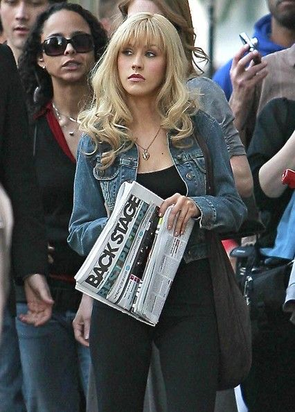 Christina Aguilera On The Set Of 'Burlesque' In West Hollywood