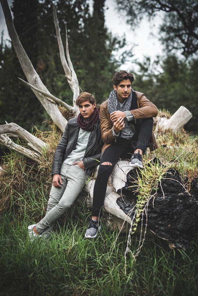 Two man models posing by huertas19 on @creativemarket
