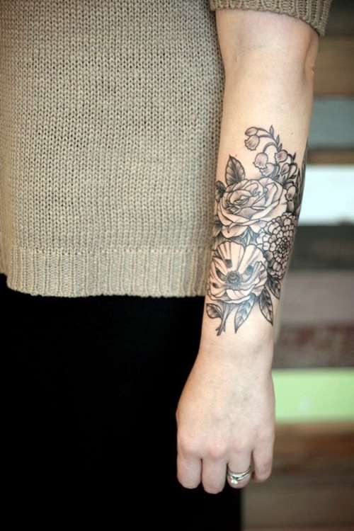 flower forearm tattoo for woman flower forearm tattoo for woman