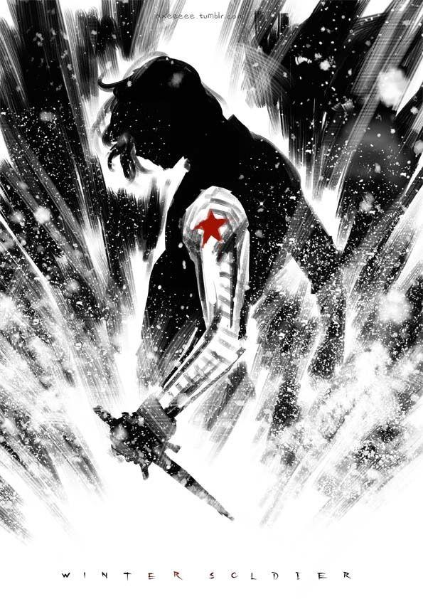 The Winter Soldier | Bucky Barnes by axeeeeee