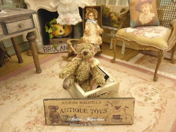 Pooh miniatuur Victoriaanse romantische kant door AtelierMiniature