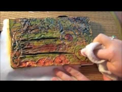 The One Minute Muse | Art Journal Technique | Joint Compound