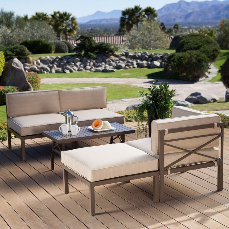 Have to have it Coral Coast Bellagio 5 Piece Aluminum Sectional Sofa Set $