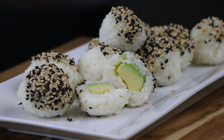 You don't need a bamboo rolling mat to make these avocado sushi balls — all you need is your hands!