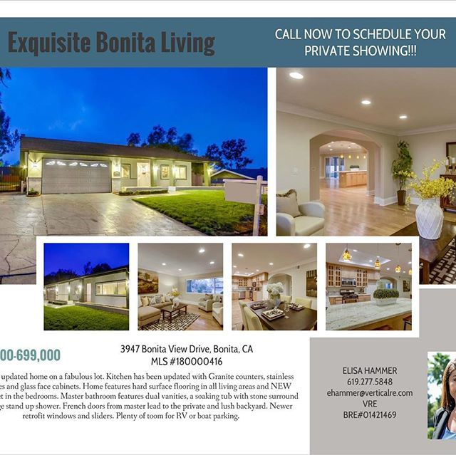 NEW LISTING ALERT!!! Open this weekend Saturday and Sunday 11-2. 4 bedrooms 2 bathrooms almost 2,000 sq ft. Message me for more details. #sdrealestate #rennovated #sandiegorealestate - posted by Pacific Reef Real Estate https://www.instagram.com/pacificreefrealestate - See more San Diego Real Estate photos from Local San Diego Realtors at https://LocalRealtors.com/stream