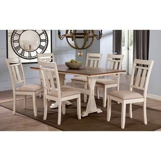 Shop for Roseberry Shabby Chic French Country Cottage Antique Oak Wood and Distressed White 7-Piece Dining Set. Get free delivery at Overstock.com - Your Online Furniture Shop! Get 5% in rewards with Club O! - 17445847