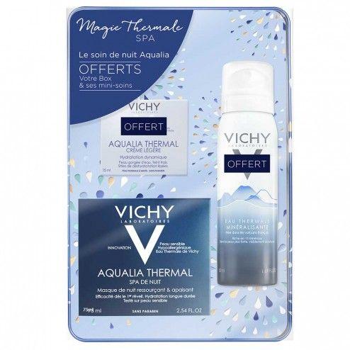 VICHY COFFRET AQUALIA THERMAL SPA DE NUIT 50ML+ CREME LEGERE 15ML + EAU THERMALE 50ML OFFERT