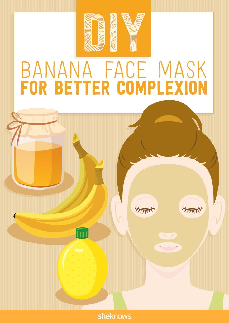 Nourish tired skin with this homemade banana face mask