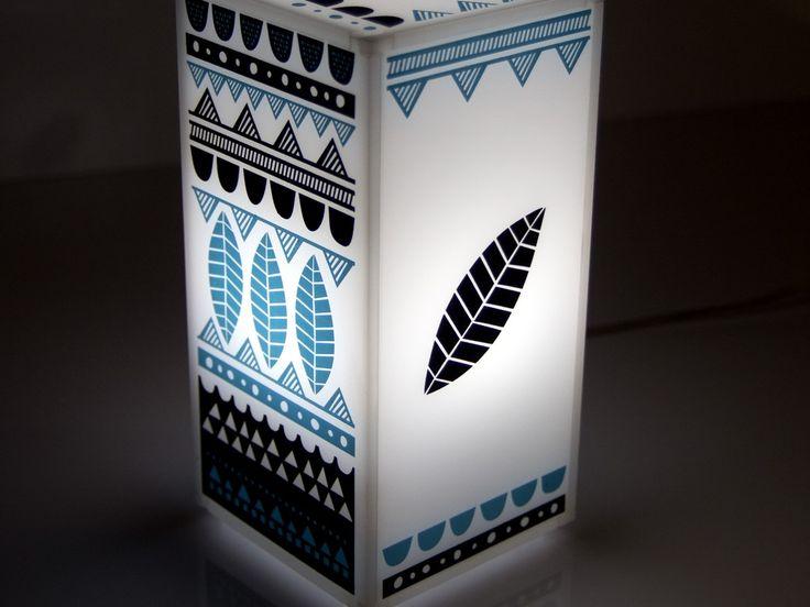 Mermaid  | Plexiglass table lamp | screenprinted & lazer cutted | 11 x 11 x 21 cm