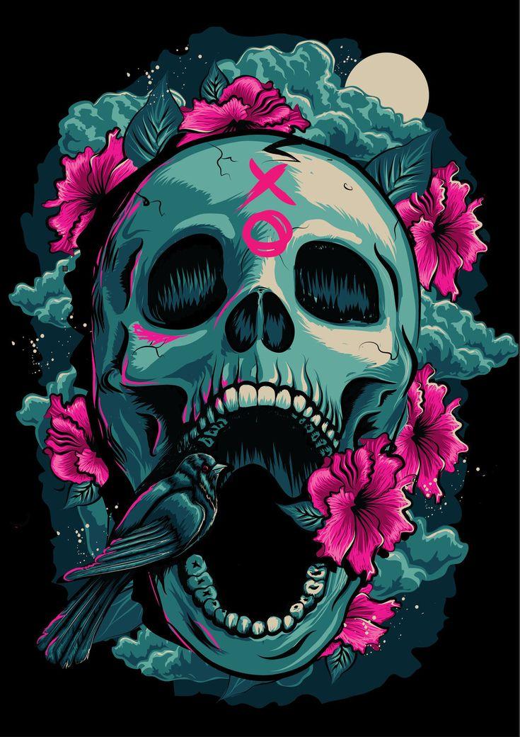 skull_and_bird_illustration_by_kimwilson242-d89eo0n.jpg (1024×1448)