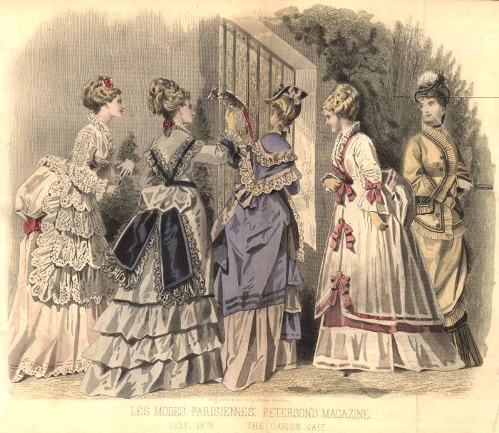 Late Victorian Era Fashion Plate - July 1875 Peterson's Magazine