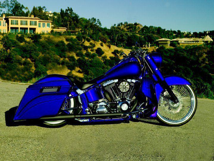 blue bagger custom bikes harley davidson trike harley. Black Bedroom Furniture Sets. Home Design Ideas