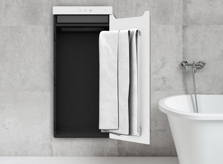 """Mit Zenia hat Zehnder einen neuartigen Handtuchwärmer auf den Markt gebracht, welcher für vorgewärmte Handtücher und ein wohlig warmes Badezimmer sorgen kann - auch dank eines Heizlüfters, der """"on demand"""" unabhängig von der Zentralheizung arbeitet."""