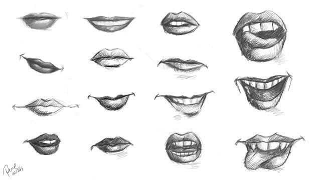 Regina Resende: Estudo: lábios