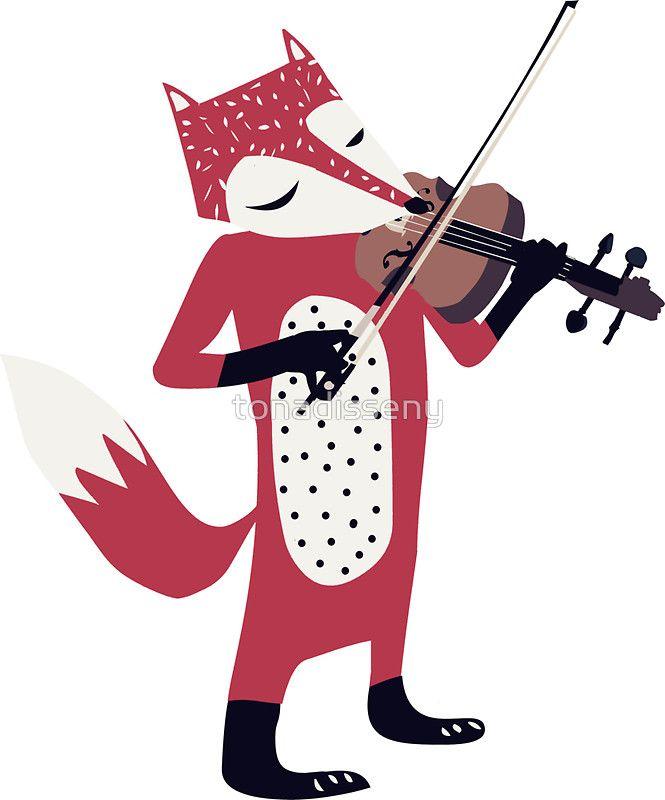 Red foxy violinist