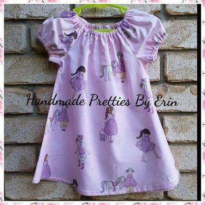 Handmade by Handmade Pretties By Erin Peasant Dress