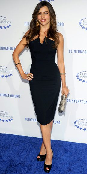 love the dress - and she's at a Clinton Foundation event!