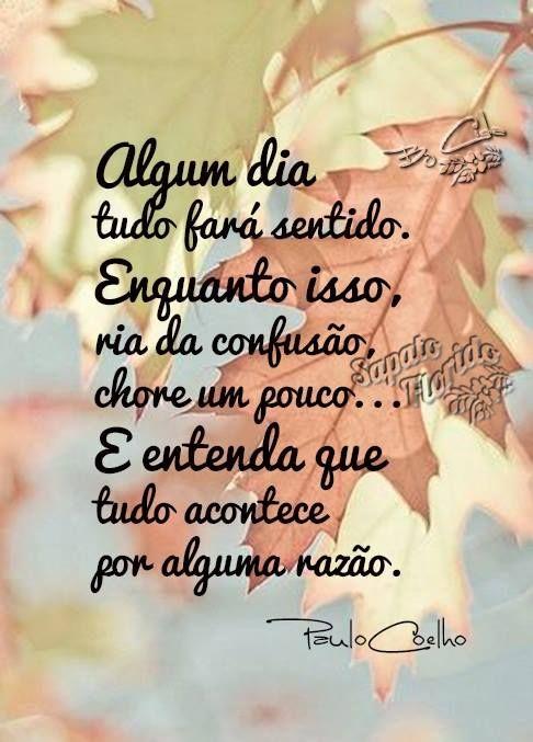 Algum dia tudo fará sentido. Paulo Coelho