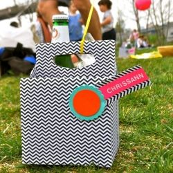 Here's a quick, easy DIY to turn old beer or soda containers into darling, personal picnic caddies for your next summer outing.