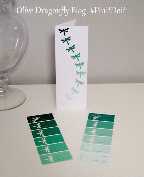 punch designs out of paint sample cards from the paint store to get gradation of a particular color