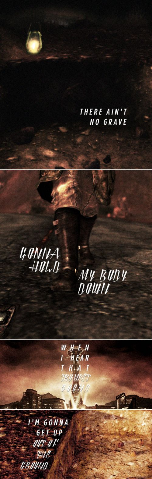 New Vegas: Oh Gabriel, don't you blow your trumpet 'til you hear from me. #fallout