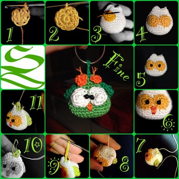 Amigurumi Portachiavi Tutorial : 17 Best images about Bomboniere on Pinterest Free ...