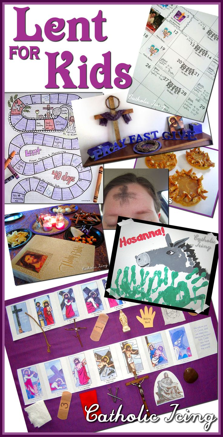 All the links you need for Lent in one easy place- printables, crafts, activities and more from Catholic Icing.