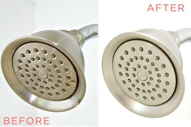 Using vinegar to clean your showerhead is the easiest way to get it clean and disinfected in minutes with little work. This should be done once per month.